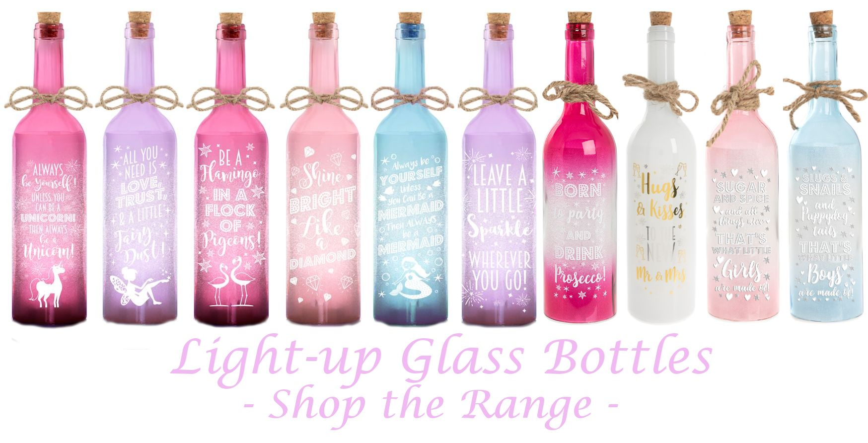 Led Bottles Wholesale Gift Range