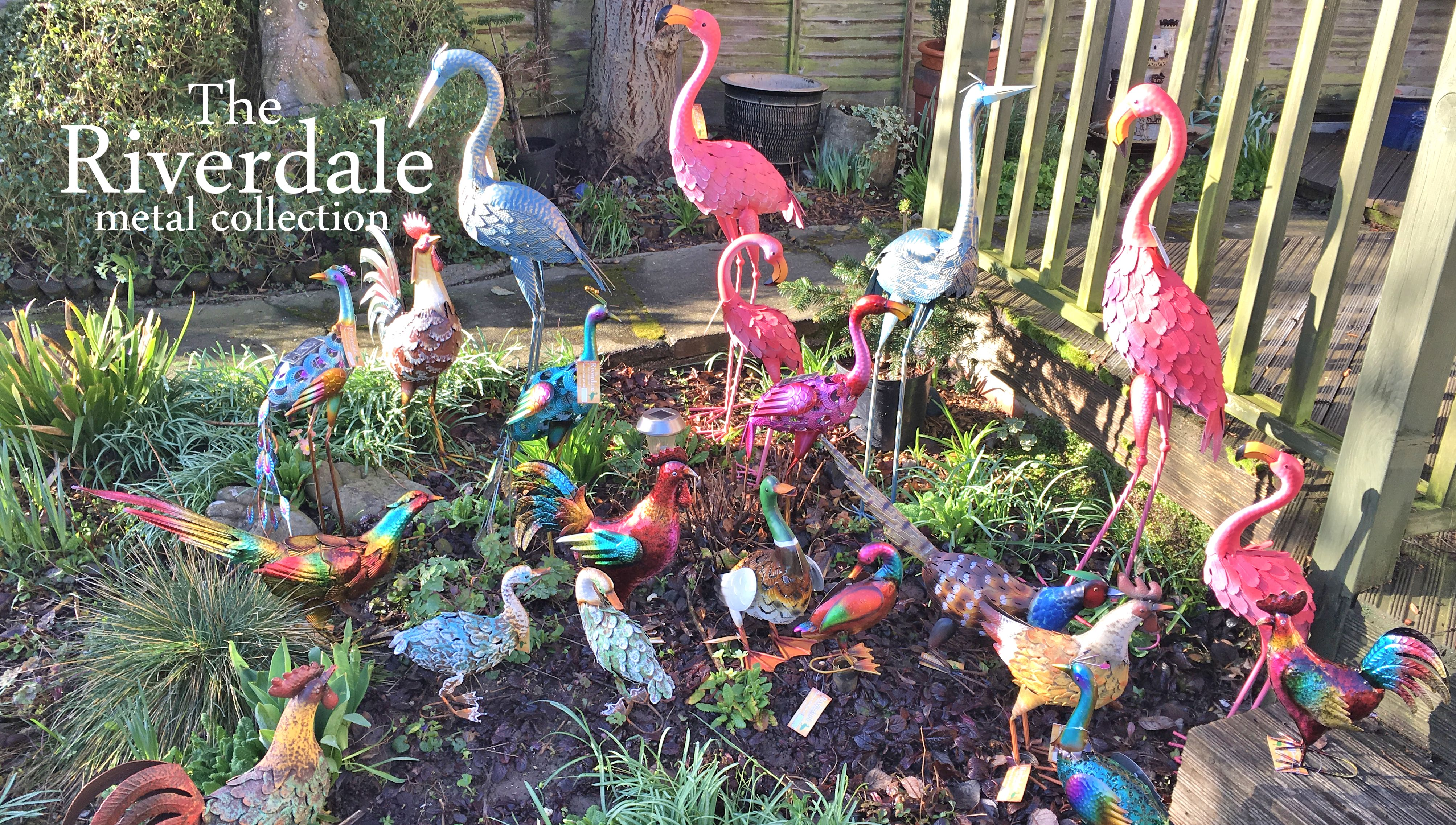 metal bird garden ornaments wholesale trade supplier